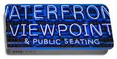 Waterfront Neon Pike Place Market Seattle Portable Battery Charger