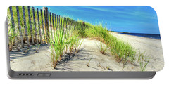 Portable Battery Charger featuring the photograph Waterfront Sand Dune And Grass by Gary Slawsky