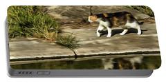 Waterfront Walking Kitten Portable Battery Charger