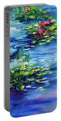 Waterlilies Portable Battery Charger