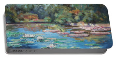 Waterlilies Pond In Tower Grove Park Portable Battery Charger