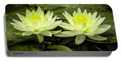 Waterlily Duet Portable Battery Charger by Venetia Featherstone-Witty