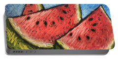 Watermelon Summer Portable Battery Charger