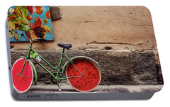 Watermelon Wheels Portable Battery Charger by Happy Home Artistry
