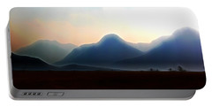 Waterton - Mountain Panorama Portable Battery Charger by Stuart Turnbull