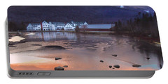 Waterville Valley Sunset Portable Battery Charger by Nancy Griswold