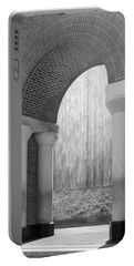 Waterwall And Arch 3 In Black And White Portable Battery Charger