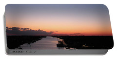 Waterway Sunset #1 Portable Battery Charger