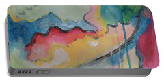 Portable Battery Charger featuring the digital art Watery Abstract by Susan Stone