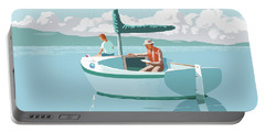Wating For The Wind Portable Battery Charger