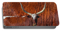Watusi Blues In Rustic Red Portable Battery Charger