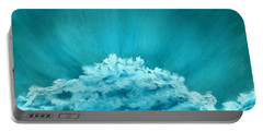 Portable Battery Charger featuring the painting Wave Cloud - Sky And Clouds Collection by Anastasiya Malakhova