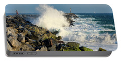 Wave Crash At The Wedge Portable Battery Charger