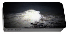 Wave Rolling Onto Beach Portable Battery Charger