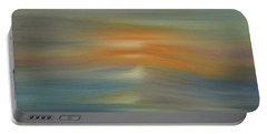 Wave Swept Sunset Portable Battery Charger by Dan Sproul