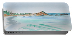Portable Battery Charger featuring the painting Waves Arriving Ashore In A Tasmanian East Coast Bay by Dorothy Darden