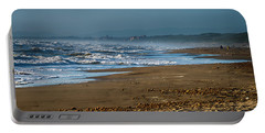Waves At Donoratico Beach - Spiaggia Di Donoratico Portable Battery Charger