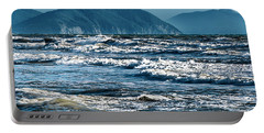 Waves At Populonia Promontory - Onde Al Promontorio  Portable Battery Charger