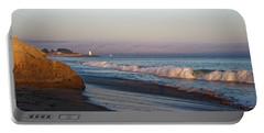 Waves At Santa Cruz Portable Battery Charger