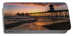 Waves At Sunset Portable Battery Charger