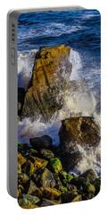 Waves Battering Rocks Portable Battery Charger