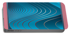 Portable Battery Charger featuring the digital art Waves by Leo Symon