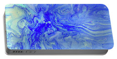 Waves Of Blue Portable Battery Charger by Desiree Paquette
