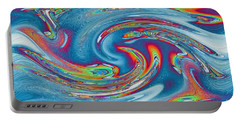 Waves Of Rainbow Portable Battery Charger
