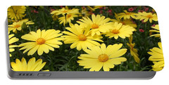 Waves Of Yellow Daisies Portable Battery Charger