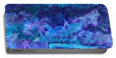Portable Battery Charger featuring the painting Waves by Robbie Masso