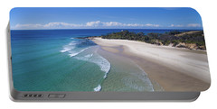 Waves Rolling In To North Point Beach On Moreton Island Portable Battery Charger