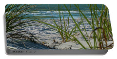Waves Through The Grass Portable Battery Charger