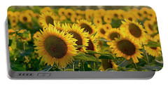 Waving Sunflowers In A Field Portable Battery Charger