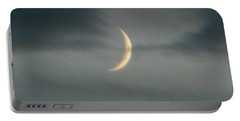 Waxing Crescent Moon Portable Battery Charger