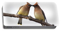 Waxwings In Love Portable Battery Charger