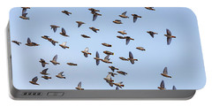 Portable Battery Charger featuring the photograph Waxwings by Mircea Costina Photography