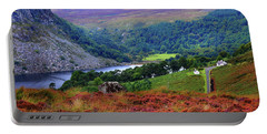 Portable Battery Charger featuring the photograph Way Home. Wicklow. Ireland by Jenny Rainbow