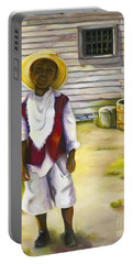 Portable Battery Charger featuring the painting Way Out Of No Way by Marlene Book