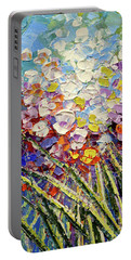 Portable Battery Charger featuring the painting Way To Fairyland by Tatiana Iliina