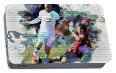 Wayne Rooney Street Art Portable Battery Charger by Don Kuing
