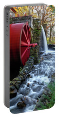 Wayside Inn Grist Mill Water Wheel Portable Battery Charger