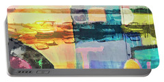 Wayzata Boats Abstract Portable Battery Charger by Susan Stone