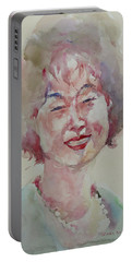 Wc Portrait 1627 My Sister Hyunju Portable Battery Charger