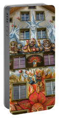 Portable Battery Charger featuring the photograph We Are All Friends Here  by Connie Handscomb