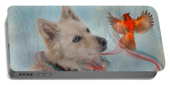 We Can All Get Along Portable Battery Charger by Colleen Taylor