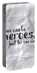 We Can Be Heroes Portable Battery Charger