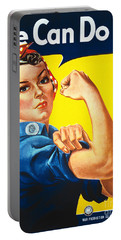We Can Do It Rosie The Riveter Poster Portable Battery Charger