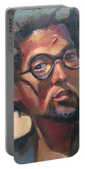 Portable Battery Charger featuring the painting We Dream by JaeMe Bereal
