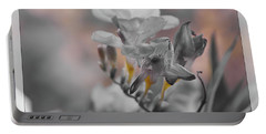 Portable Battery Charger featuring the photograph We Fade To Grey Freesia's by Lance Sheridan-Peel
