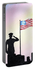 Portable Battery Charger featuring the painting We Remember by Betsy Hackett